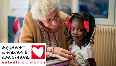 Professor Francine Leca repairs the heart defects of children with serious heart disease born in underprivileged countries